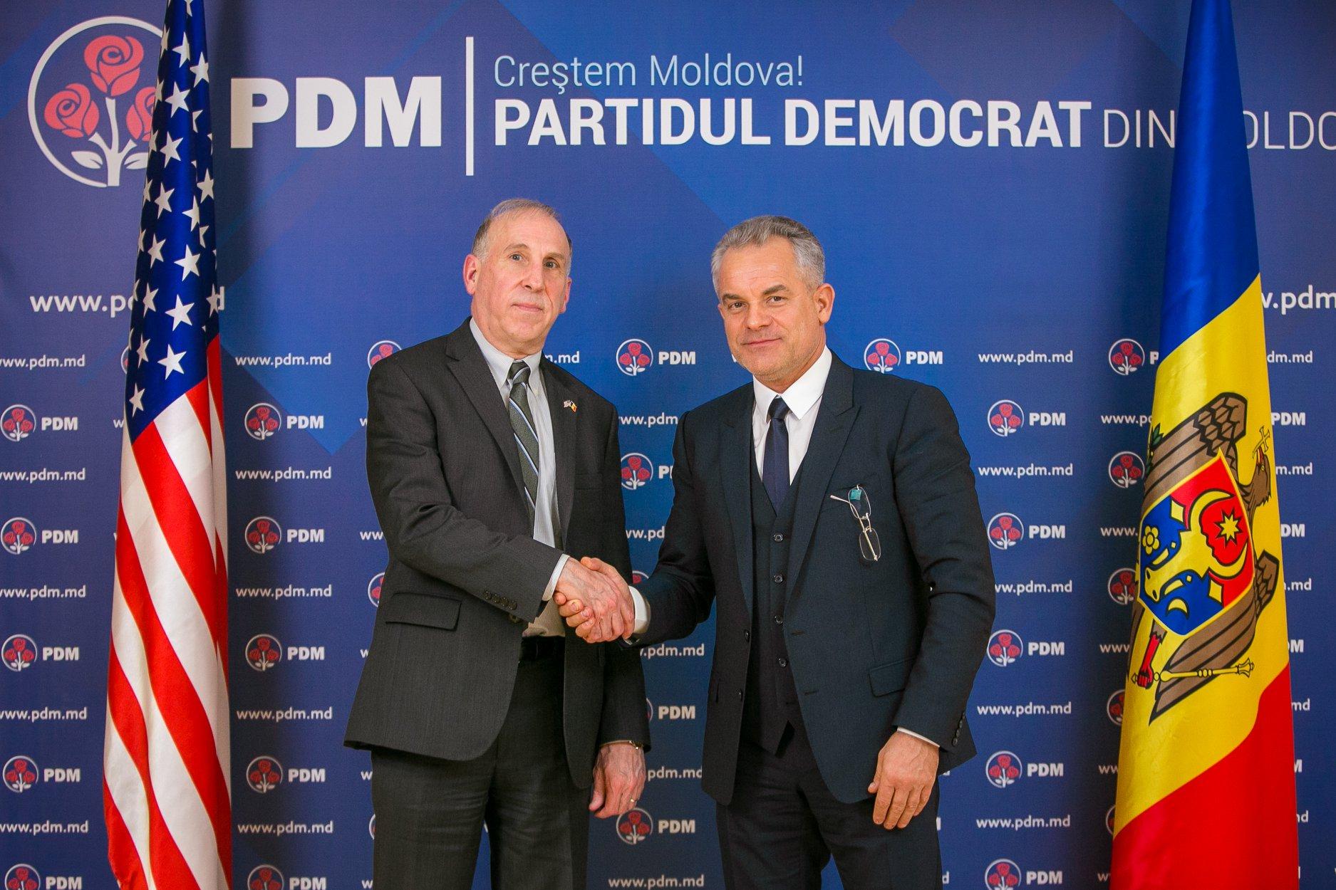 james pettit vlad plahotniuc, preşedintele PDM, în dialog continuu cu ambasadorul Statelor Unite ale Americii