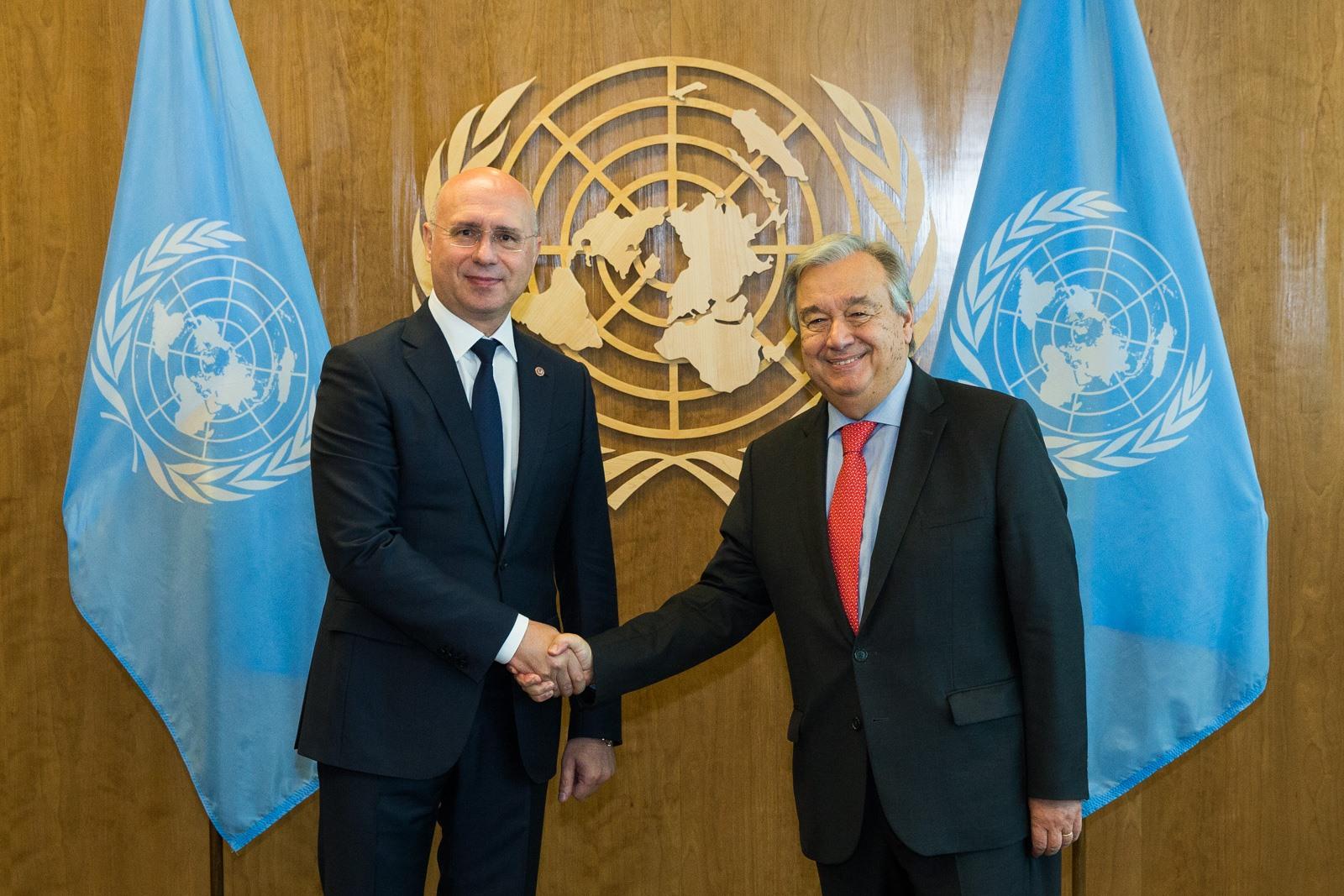 Pavel Filip către Secretarul General ONU, Apreciem că Organizația și-a concentrat atenția asupra retragerii trupelor ruse din Moldova, pdm, partidul democrat din moldova, vlad plahotniuc, maia sandu, igor dodon, andrei nastase