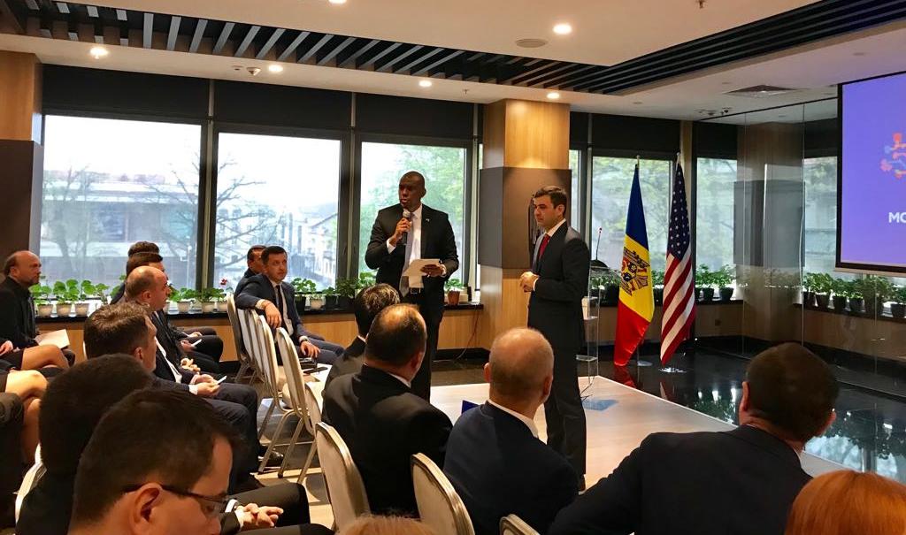 16 companii americane au venit la Chișinău, Hogan și Gaburici în discuții cu antrepreorii din SUA, guvernul filip pdm, partidul democrat din moldova, investitii straine locuri de munca, pib moldova 2019