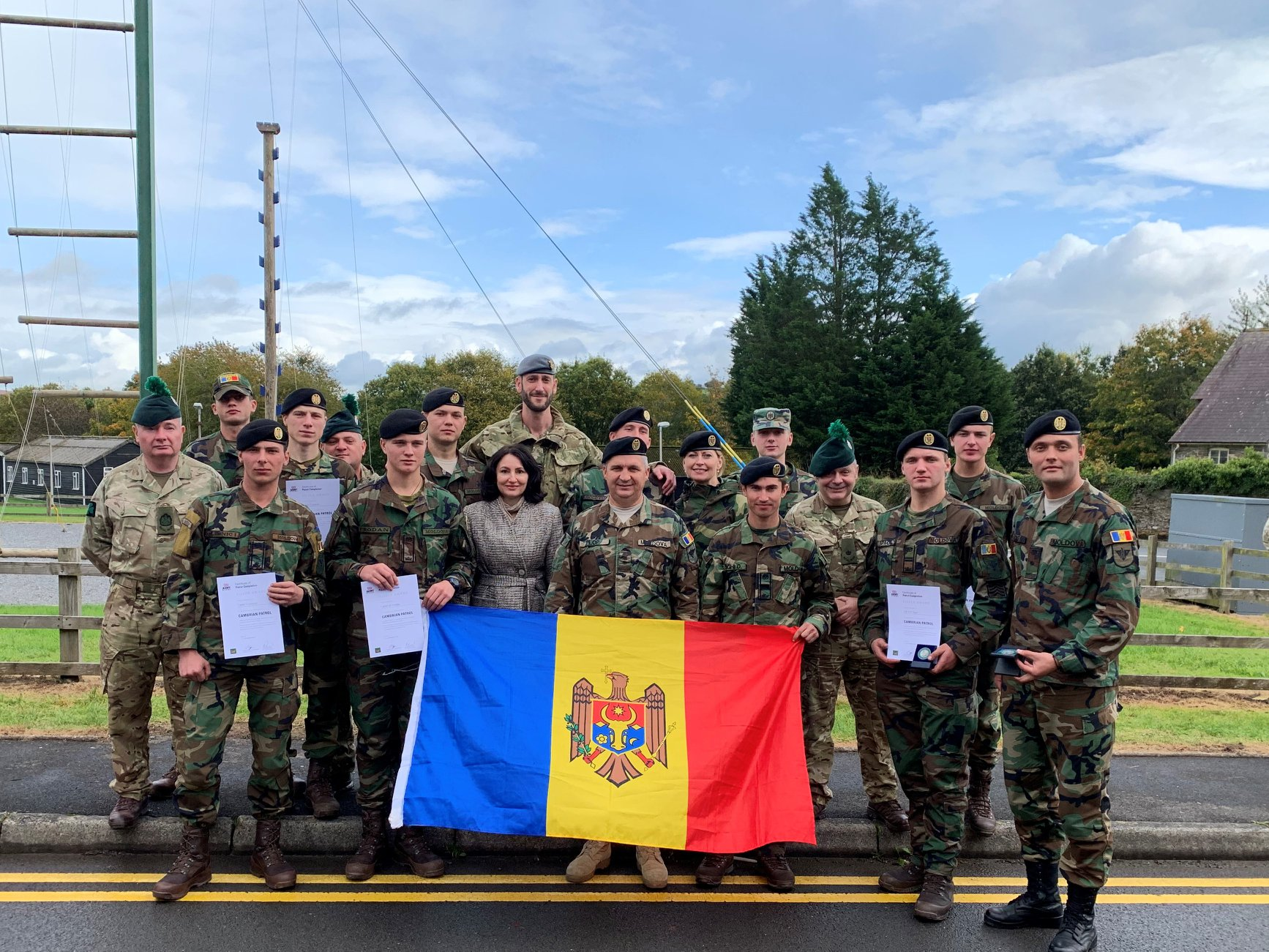 Medalie de argint, militari moldoveni, academia militară Alexandru cel Bun, Republica Moldova, concurs, Irlanda de nord, Cambrian Patrol 2019,